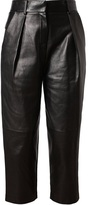 Alexander Wang Leather and Wool-Blend Trousers