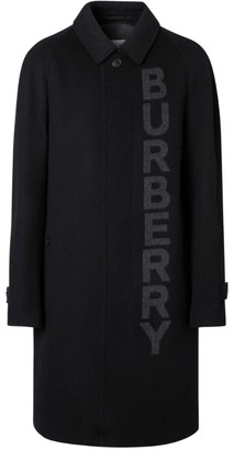 Burberry Logo Wool-Cashmere Jacquard Car Coat