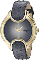 Salvatore Ferragamo Women's 'Signature' Quartz Stainless Steel and Leather Casual Watch, Color:Grey (Model: FIZ020015)