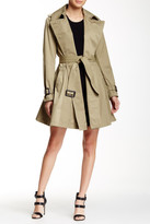 BCBGeneration Long Double Breasted Trench Coat