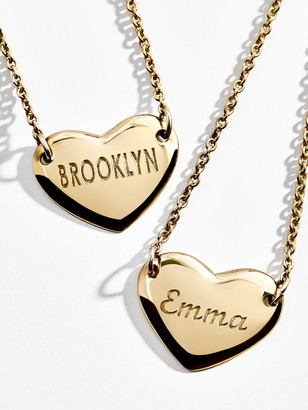 BaubleBar Amour Engravable Pendant Necklace