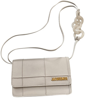 Jacquemus Le Riviera White Leather Clutch bags