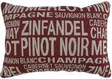 B. Smith Park Wine Varieties Throw Pillow
