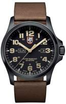 "Luminox Atacama Field Day Date"" Vintage Brown Leather Strap Watch"