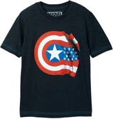 JEM Marvel Captain America Shield Flat Tee (Big Boys)