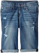 True Religion Geno Single End Shorts in Used Wash Boy's Shorts
