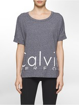 Calvin Klein Performance Oversized Logo Short-Sleeve Boxy T-Shirt