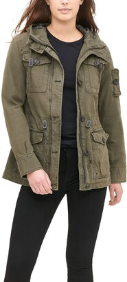 Levi's Women's Cotton Four Pocket Hooded Field Jacket
