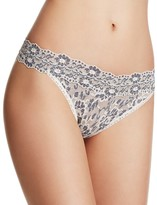Hanky Panky Cross-Dyed Signature Lace Original-Rise Thong #591104