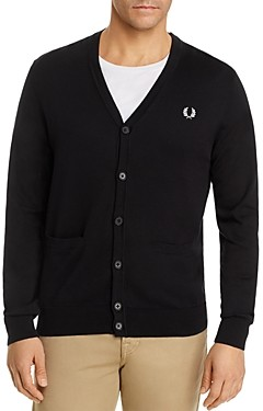 Fred Perry Cotton V-Neck Cardigan