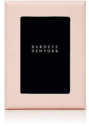 """Barneys New York Pebbled Leather 4"""" x 6"""" Picture Frame - Pink"""