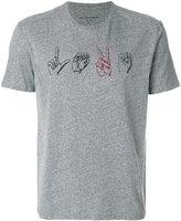 John Varvatos hand print T-shirt