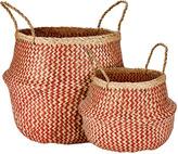 Houseology Murmur Seagrass Basket Set Of 2 - Red
