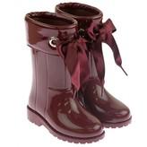 Igor IgorGirls Burgundy Campera Ribbon Tie Rain Boots