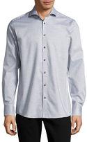 Bruun And Stengade Modern-Fit Heathered Sport Shirt
