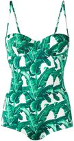Dolce & Gabbana banana leaf print swimsuit