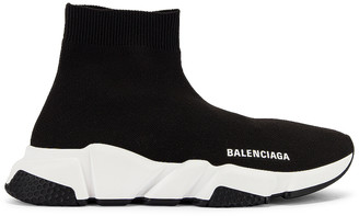 Balenciaga Bicolor Speed Sneakers in Black & White | FWRD