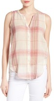 Lucky Brand Women's Plaid Cotton Sleeveless Shirt