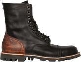 Diesel Steel Toe Two Tone Leather Lace-Up Boots