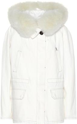 Yves Salomon Fur-trimmed denim jacket