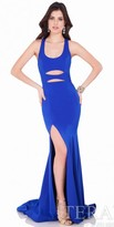 Terani Couture Racerback Cut Out Evening Dress