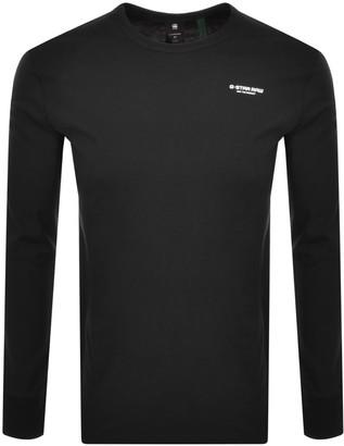 G Star Raw Base Crew Long Sleeve T Shirt Black
