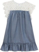 Rare Editions Lace and Chambray Dress, Toddler and Little Girls (2T-6X)