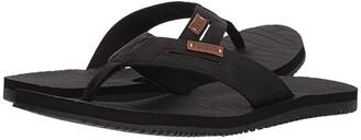 Flojos Waverunner (Black) Men's Toe Open Shoes
