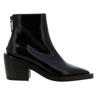 Marsèll Coneros Ankle Boots In Shiny Natural Leather With Zip