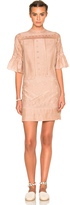 Ulla Johnson Elena Embroidered Cotton Silk Dress