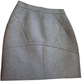 Alexander Wang Grey Wool Skirt for Women