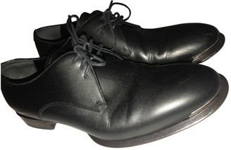 Alexander McQueen Black Leather Lace ups