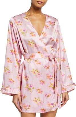 Morgan Lane Langley Floral Print Charmeuse Robe