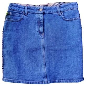 Burberry Blue Denim - Jeans Skirt for Women