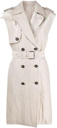 Brunello Cucinelli Sleeveless Trench Coat