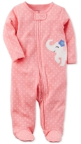 Carter's Printed Elephant Footed Cotton Coverall, Baby Girls (0-24 months)