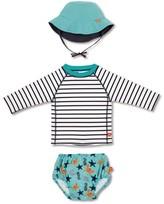 Lassig Toddler Boy's Two-Piece Rashguard Swimsuit & Hat Set