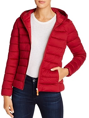 Save The Duck Hooded Packable Short Puffer Coat