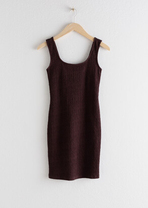 And other stories Square Neck Smock Mini Dress