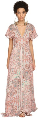 Etro Printed Silk Muslin Dress