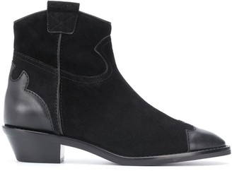 See by Chloe Leather Cap Toe Boots