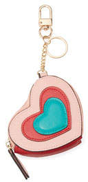 Neiman Marcus Heart-Shaped Coin Pouch Key Chain