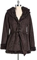 Jones New York Faux Fur Walking Coat