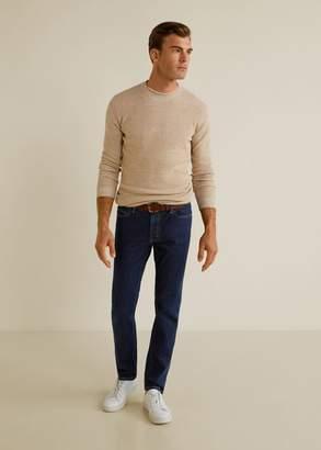 MANGO MAN - Slim fit soft wash Jan jeans open blue - 28 - Men