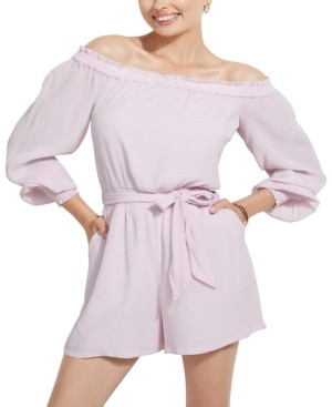 GUESS Mellie Off-The-Shoulder Romper