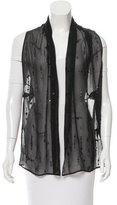 Ann Demeulemeester Silk Embellished Vest