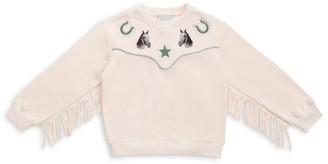 Stella Mccartney Kids Horse Fringe Sweatshirt (4-14 Years)