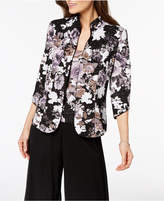 Alex Evenings Metallic Floral-Print Jacket & Shell, Regular & Petite Sizes