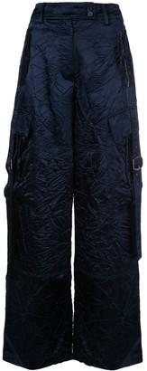 Sies Marjan Crinkled Wide Leg Trousers