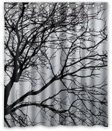 "Personalized Shower Curtain Generic Personalized Black and White Tree Branch for Shower Curtain Bath Curtain 60"" x 72"""